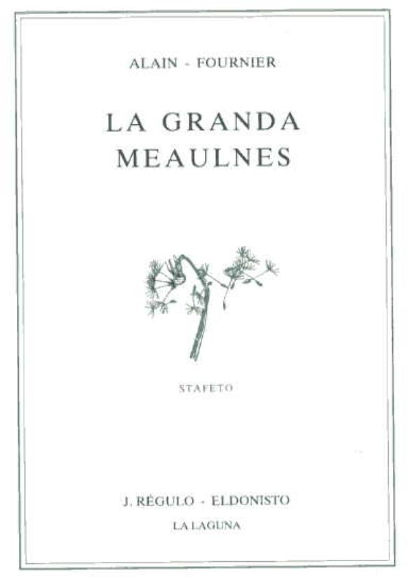 GRANDA MEAULNES, LA (direct from UEA) - Click Image to Close