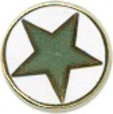 CLASSIC GREEN STAR PIN - Click Image to Close
